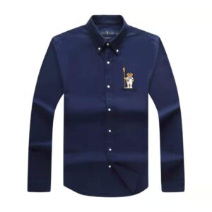 Polo Ralph Lauren Plain Shirt Navy Blue