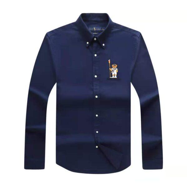 Polo Ralph Lauren Plain Shirt Navy Blue 3