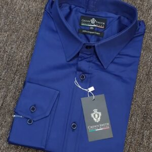 Crown Smith Navy Blue Longsleeve Plain Shirt