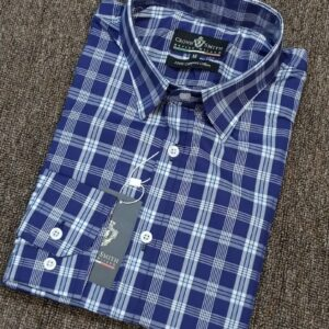 Crown Smith Blue Checkers Longsleeve Shirt